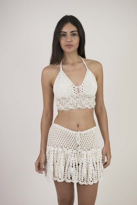 CROCHET SKIRT - U - OFF WHITE