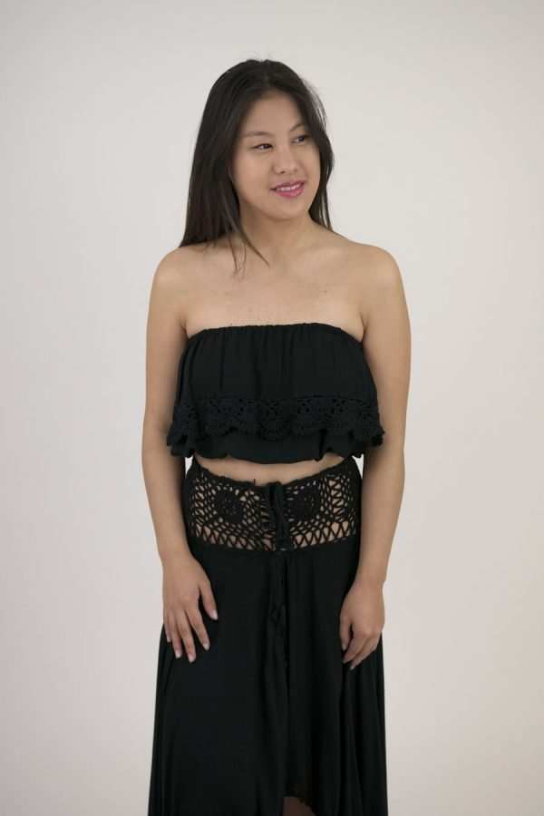 TOP LEHER - U - BLACK
